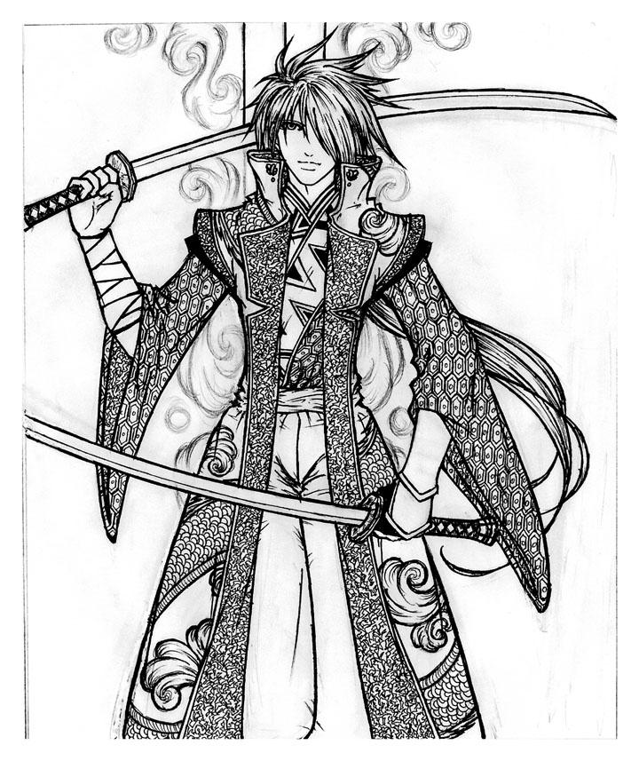 Training Swordsman__BW__by_Initio_et_Finem