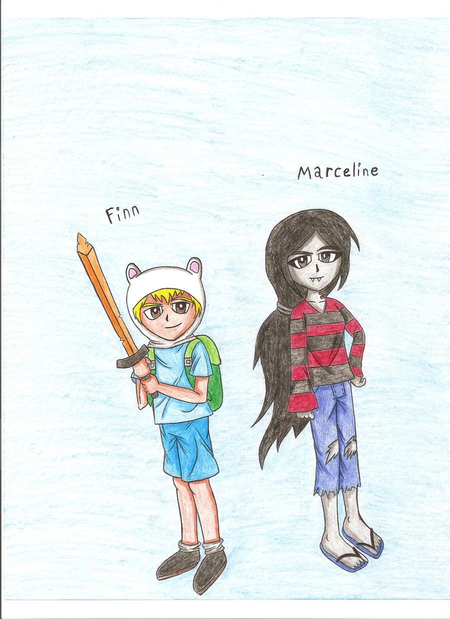Anime Finn and Marceline by DBJay on DeviantArt