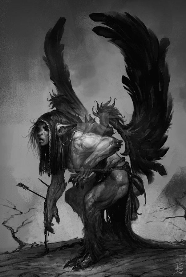 Black wing by WinterGoesDraw