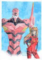 Asuka Eva 02 - fanart by NixzComics