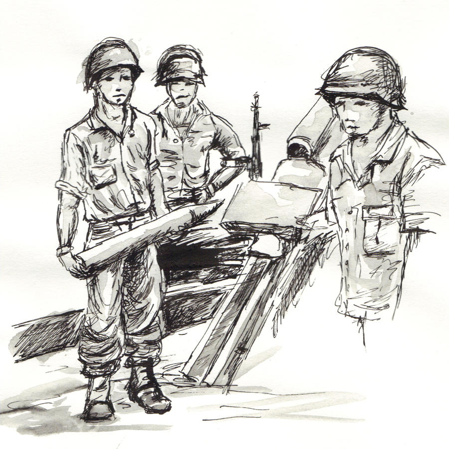 american soldier drawing - photo #12