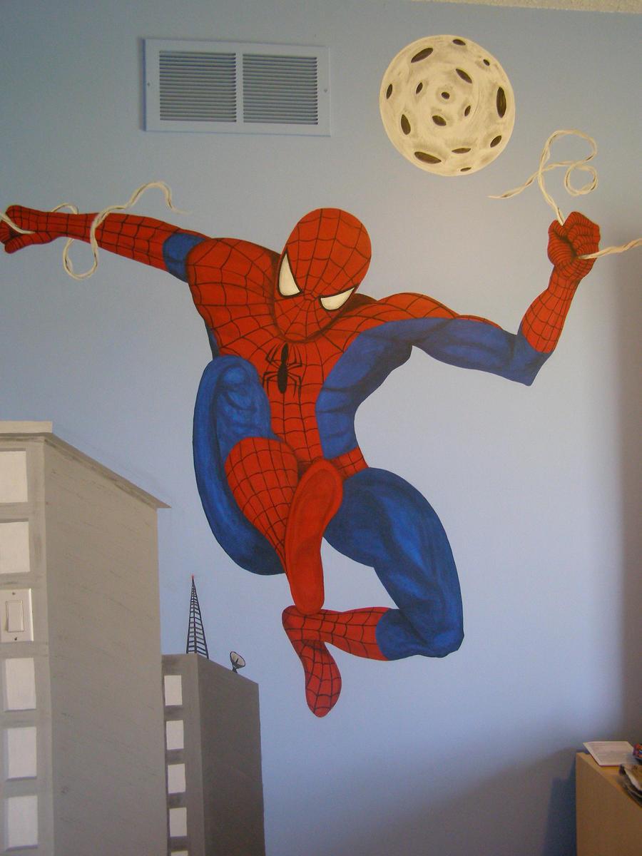 Spiderman mural by daddyolicious on deviantart - Poster mural spiderman ...