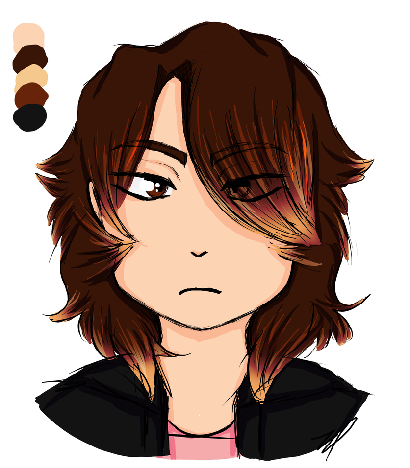 Edgy Kid With Fluffy Hair by cYbOrGqUEn