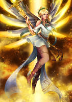 Winged Victory Mercy by Lespapillions