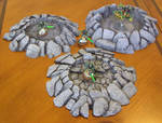 28mm Wargame Crater Terrain Set (Warhammer 40k) by Necron2-0 on