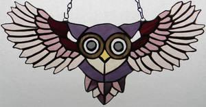 Peek-A-Boo Purple Owl