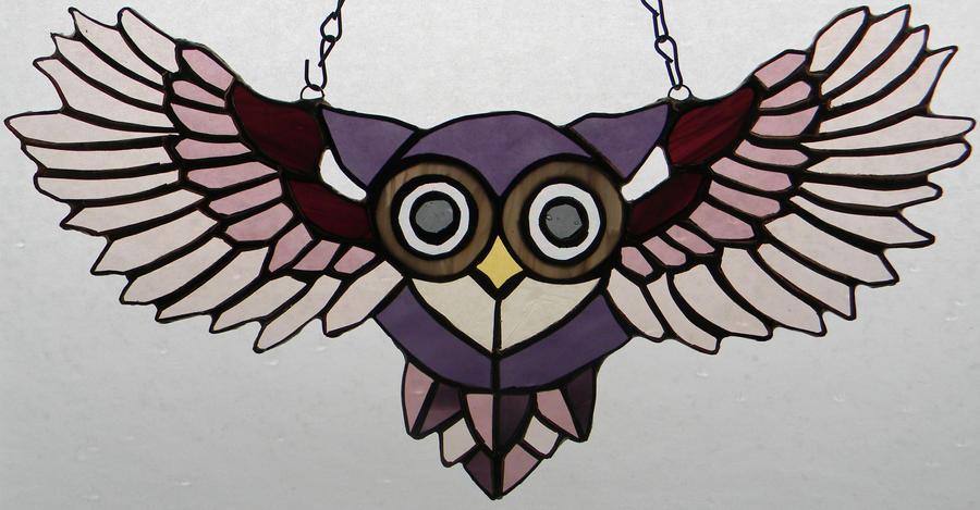 Peek-A-Boo Purple Owl by GhostyBoo