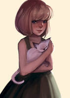 Cat by spaghettae