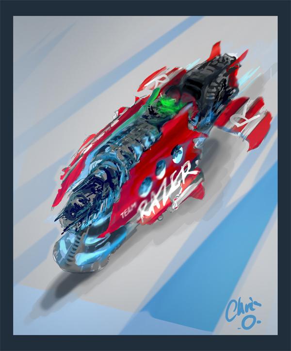 "DSG 1484: Sci-Fi • RACER ""BIKE"" USES ADVANCED QUANTUM WAVE GRAVITY-RAZOR TECHNOLOGY"