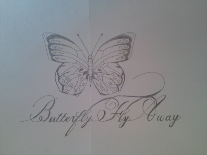 Butterfly flying away tattoos - photo#9