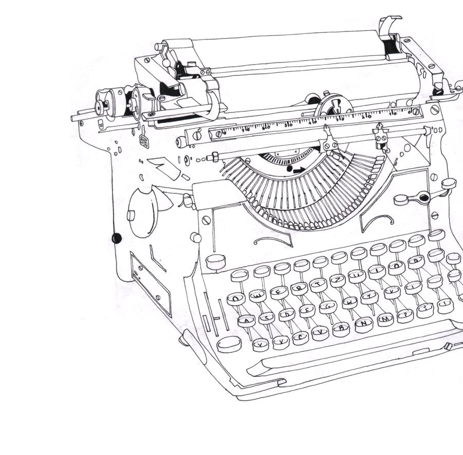 typewriter by ibrokemyumbrella