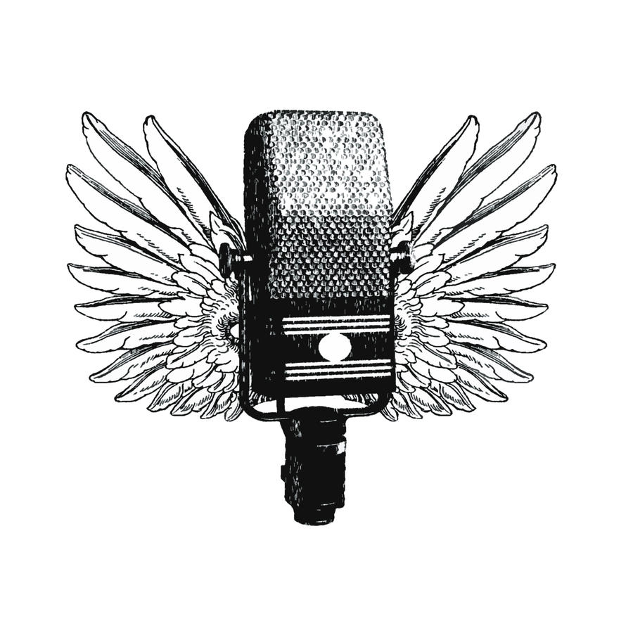 Line Art Microphone : Microphone logo by double design on deviantart