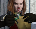 Batgirl and Miss Martian vs Giganta