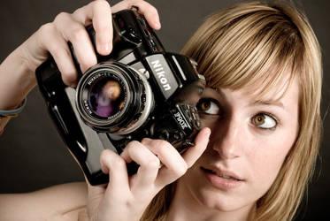 Justine : Old Nikon by webhamster