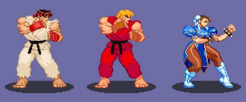 Street Fighter Revamped Sprites
