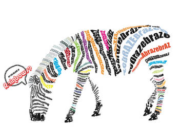 Zebra Typography by oragamiknight