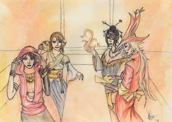 4 Mages Walk into a Bar by oragamiknight