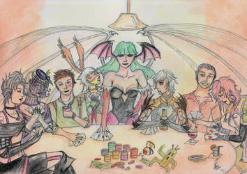 Never Play Cards with Succubus by oragamiknight