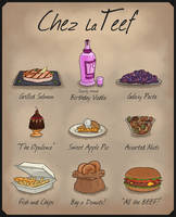 [FLASH SALE!] Chez LaTeef Menu [All sold!] by TheDangerCat