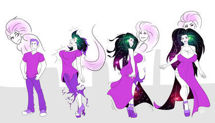 Curvy Cosmic Hair Girl Teef #2 by TheDangerCat
