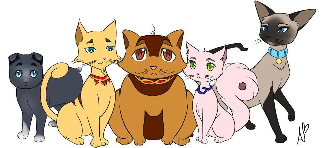 Fertitta, Sebastian, Oscar, Mau, and Mittens by WatashiNoHatsukoi