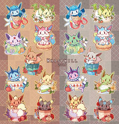 Eevees by whispwill