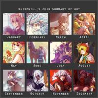 Art Summary 2014 by whispwill