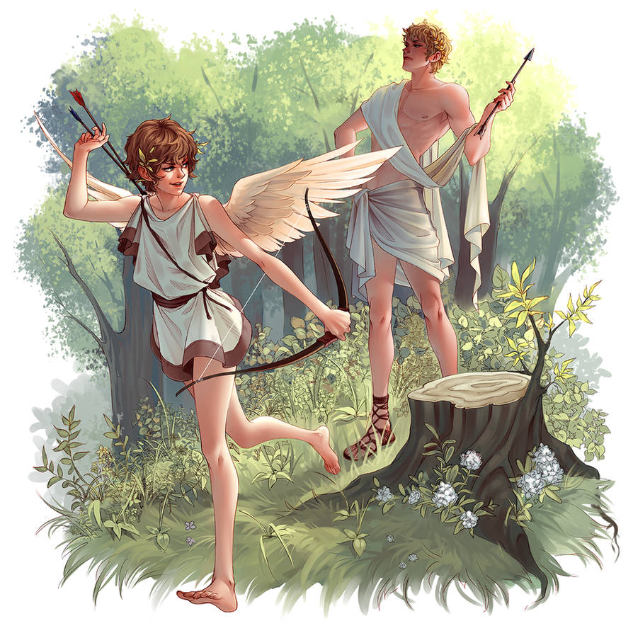Eros and Apollo by whispwill