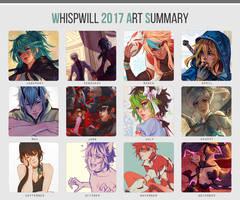 2017 art summary by whispwill