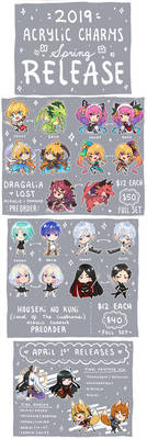 2019 Acrylic Charms ( Part 1 )