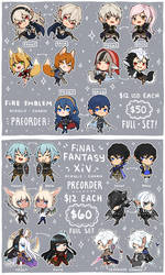 Fire Emblem and FFXIV Charms