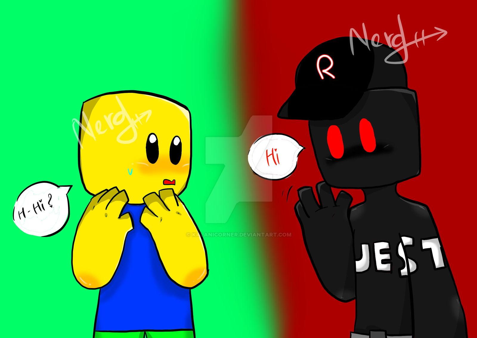 Noob And Guest 666 Roblox By Kalanicorner On Deviantart