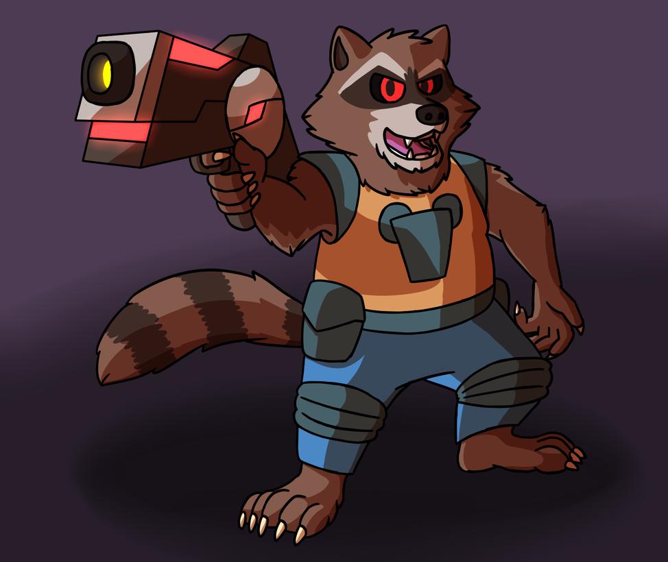 Rocket Raccoon by JomoOval