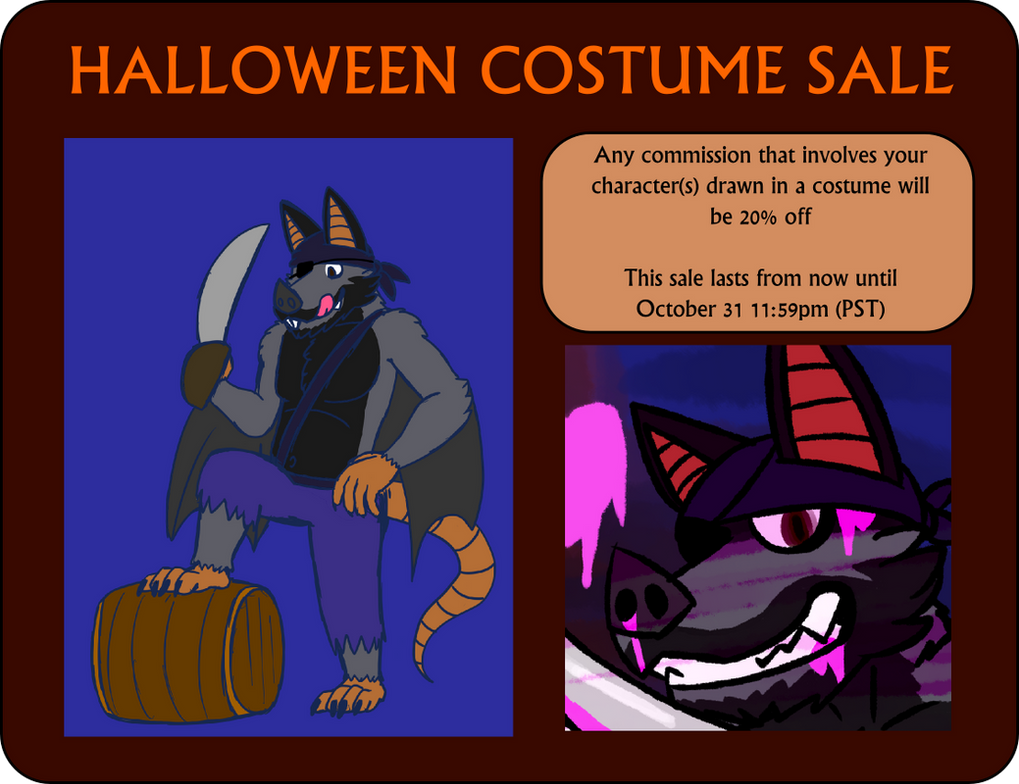 halloween costume sale [lasts all october]jomooval on deviantart