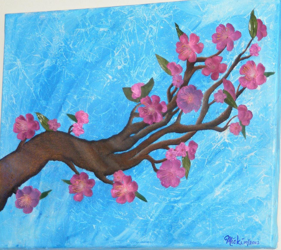 cherry blossom branch by xMickix on deviantART