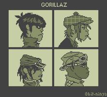 8bit gorillaz by 8bit-ninja