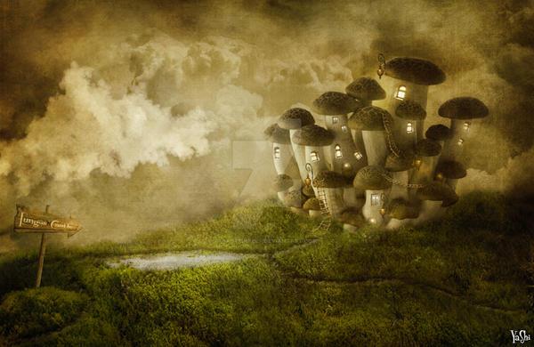 fungus castle by fastpinkelf