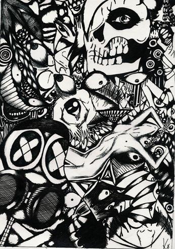 Dibujo echo hace tiempo abstracto en blanco y negro for Imagenes de cuadros abstractos en blanco y negro