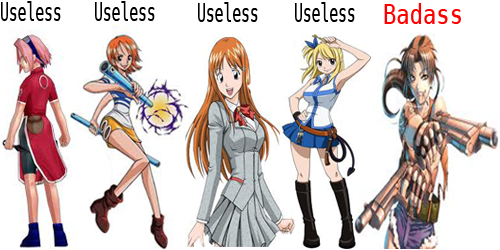 Too Many Useless Female Anime Characters By SaberineSan