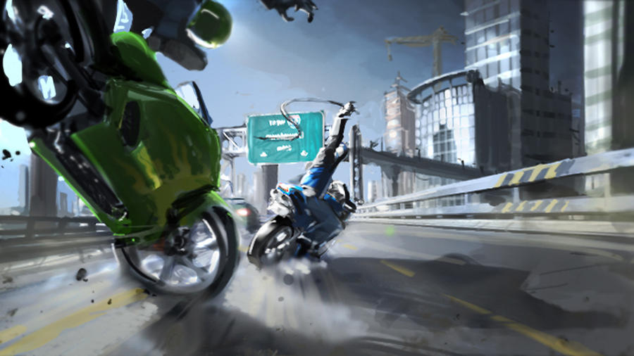Road Rash Concept by rand1211