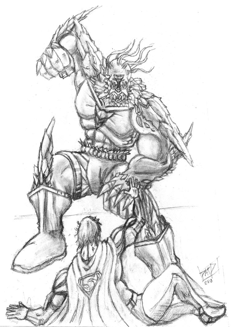 doomsday coloring pages | Doomsday Comics Sketch Sketch Coloring Page