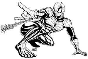 Spiderman Desktop Poster - Ink