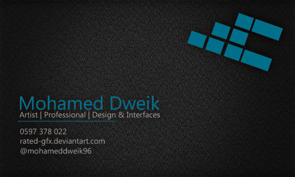 My Business Card by RaTeD-Gfx on DeviantArt