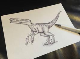 Clothespin Raptor
