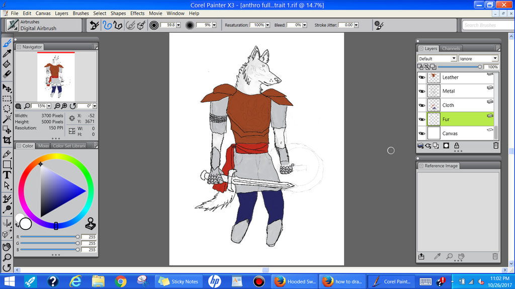 Warrior Wolf WIP by Erick-the-Druid