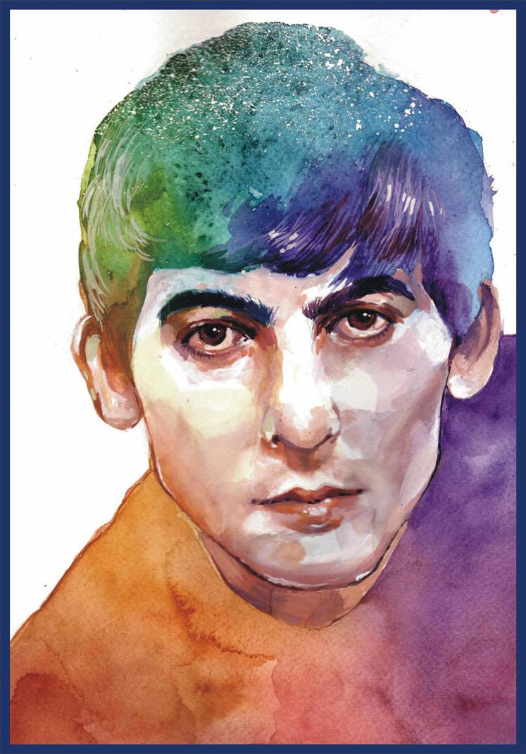George Harrison by haniutek
