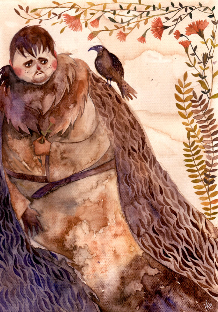 Samwell Tarly and gillyflower by haniutek