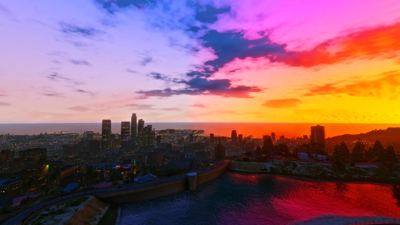 Gta V Sunset Clear Wallpapers 4k By Eeveeone On Deviantart