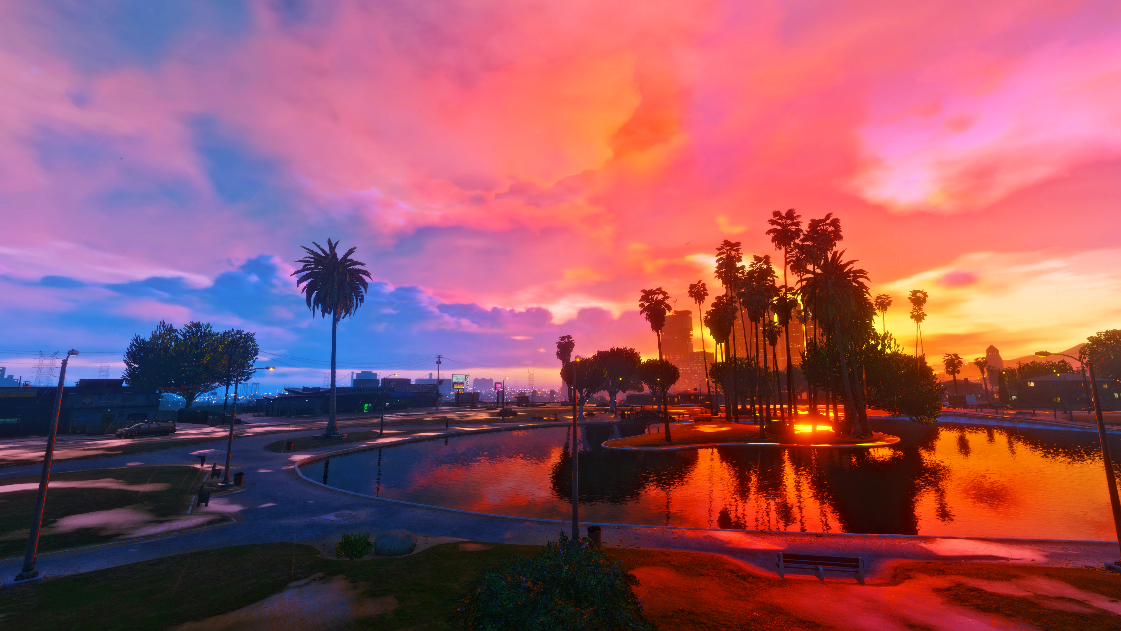 Gta V Sunset Rainy Wallpapers 4k By Eeveeone On Deviantart