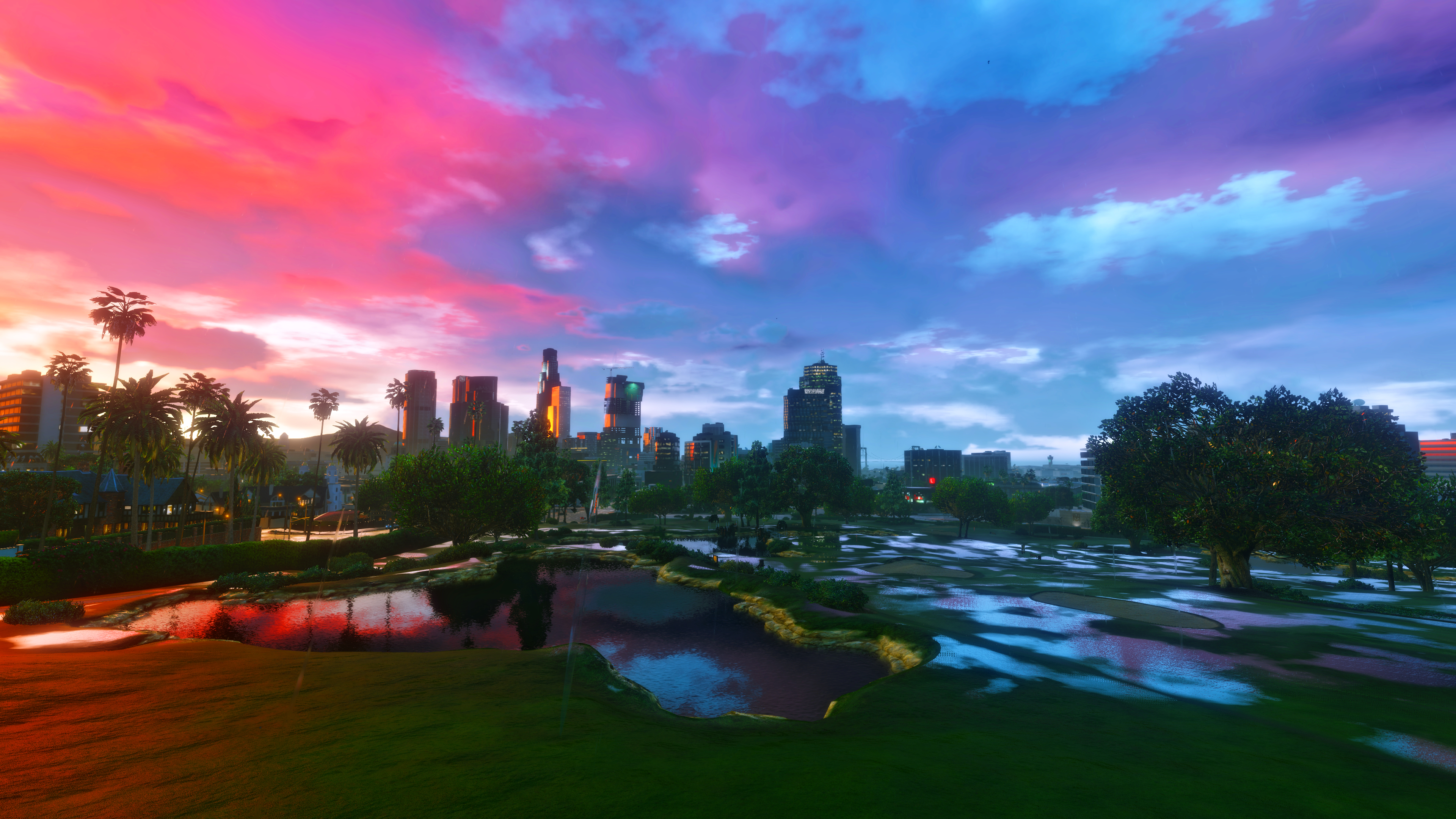 Gta V Sunrise Rainy Wallpapers 4k By Eeveeone On Deviantart